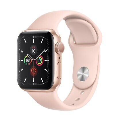 AppleWatch Series5 GPS, 40mm Gold Aluminum Case with Pink Sand Sport Band