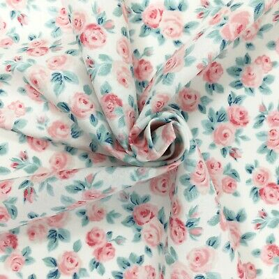 Liberty fabric, Ascot Rose floral, pink ditsy quilting cotton, Flower Show