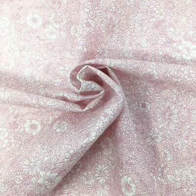 Liberty fabric, Emily floral, pink white ditsy quilting cotton, Flower Show