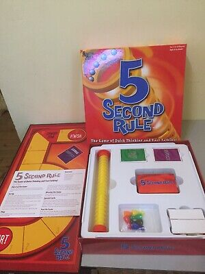 Family Game 5 Second Rule The Quick Thinking Fast Talking Board Game Excellent