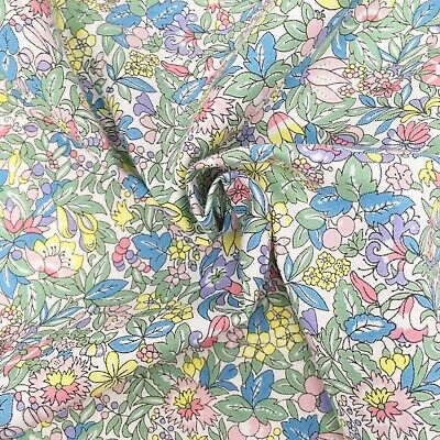 Liberty fabric, Hyde floral, green yellow ditsy quilting cotton, Flower Show