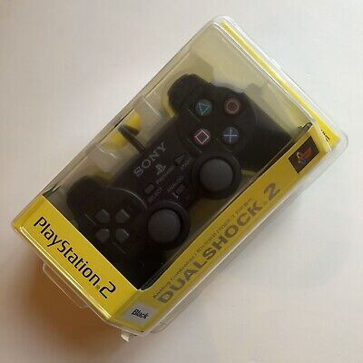 NEW PS2 Dual Shock 2 Official Pad Controller Black Sealed