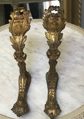Superb Quality Pair Very Decorative Antique French Ormalu Curtain Pole Holders