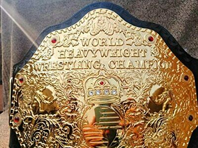 Amazing Big Gold Heavyweight Championship Wrestling Title Belt