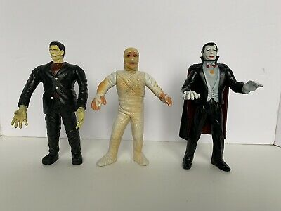 Lot Of (3) Vintage Imperial Universal Monsters Frankenstein Mummy Dracula - Rare