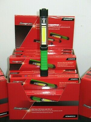 Snap On Tools Green High Power Cob Pocket Light With Uv & Magnetic Pocket Clip