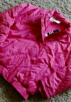 Adidas Ladies /Girls Gym Jacket New Pink Size 32/34 Warm Waterproof School Coat