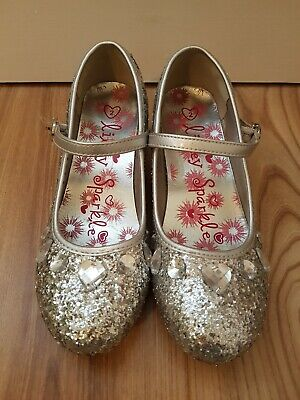 Girls Sparkly Party Shoes Size 2