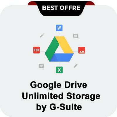 Unlimited Google Drive Cloud Storage Account Powered by G-Suite. Custom Username