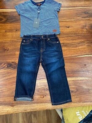 7 for all mankind Baby Boys Age 18 Months Bnwt Jeans And Top