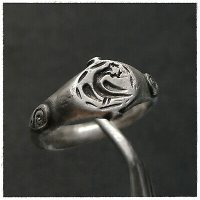 """ Aquila - Eagle ""  Ancient Silver Roman  Ring!!!!Legionary!!!!"