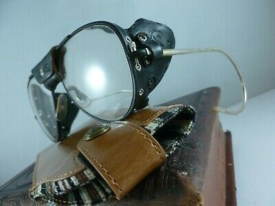 RARE vintage FRENCH 1950's motorcycle mountaineering ski goggles glasses SUPERB