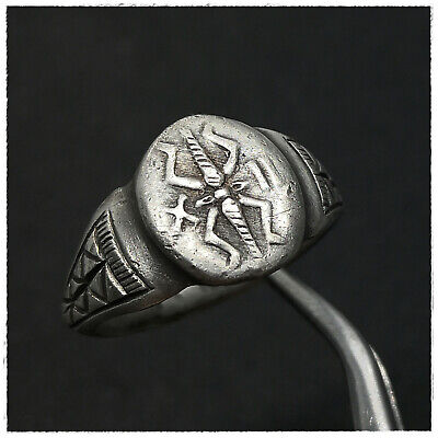 """ Legio XII Fulminata ""  ANCIENT LEGIONARY SILVER ROMAN  RING!!!!"