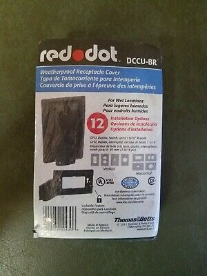Red Dot Weatherproof GFCI Outlet Cover DCCU-BR Thomas & Betts