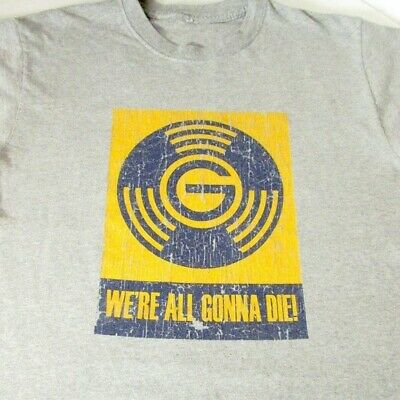 We're All Gonna Die Dawes the Band Tour Tee Shirt Gray & Yellow XL