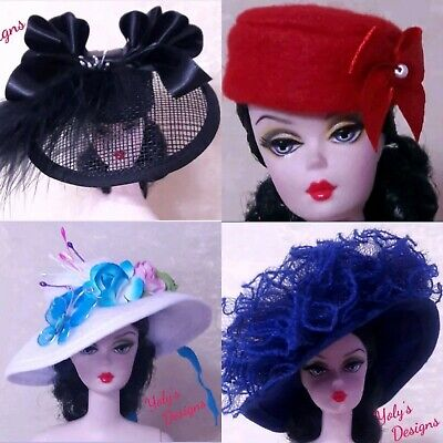 FITS Barbie Silkstone Reproduction & Vintage Doll HANDMADE Dress Hat Clothes
