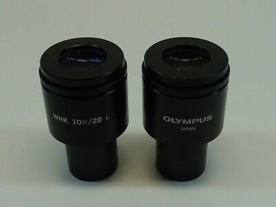 Pair of Olympus WHK 10X/20 L Microscope Eyepieces