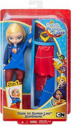 "DC Comics Superhero Girls Teen to Super Life Supergirl 10"" Doll Action Figure"