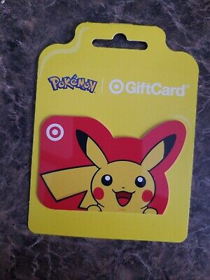 Target Pikachu Pokemon gift card 🚫NO🚫VALUE🚫