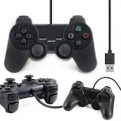 USB 2.0 Wired Game Remote Controller Gamepad Joypad Joystick PC Computer Stock