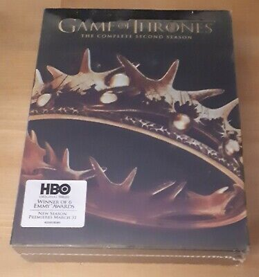 Game of Thrones: Season 2 (DVD, Brand NEW, 5 Disc Set) Complete Second Season