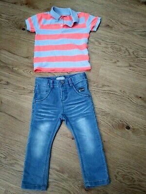 Lovely baby boys outfit next polo shirt and name it. jeans size 18-24 months