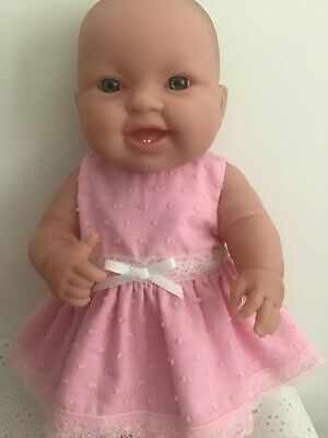 Handmade Dolls clothes for 36cm - 14in Berenguer Doll ~ Pink Dress