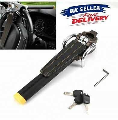 Car Steering Wheel Lock Folding Anti-Theft High-Security Device+3 Keys for Car