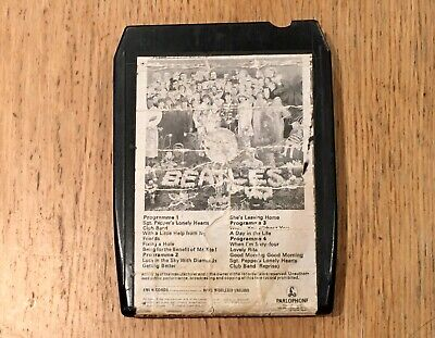 Sgt Peppers Lonely Hearts Club Band The Beatles 8 Track Cartridge Tape