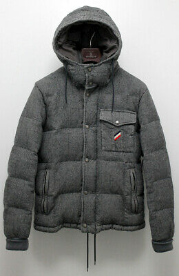 Authentic Moncler CEZANNE Real Down Wool Jacket with CERTILOGO Size 3 UK 40 US L