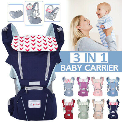 Ergonomic Baby Infant Carrier W/ Hip Seat Stool Adjustable Wrap Sling Backpack ❤