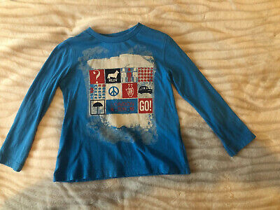 Boys Moschino Blue Long Sleeve Designer Branded Jersey Top Age 4
