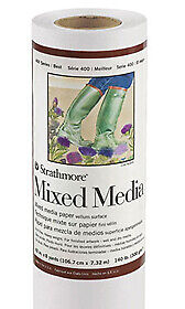 """Strathmore Paper Roll 400 Mixed Media 42""""x8yd Roll"""