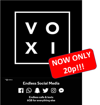 Brand new VOXI sim card - Only 20p!!