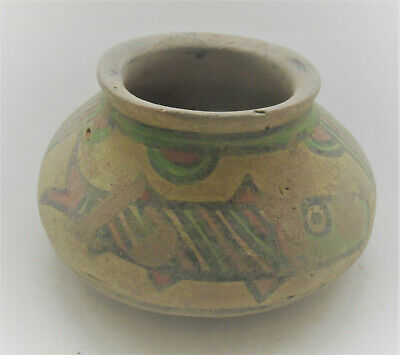 Circa 2200-1800Bce Ancient Indus Valley Harappan Pottery Vessel With Fish Motifs