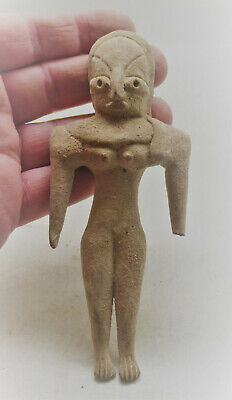 Circa 2200-1800Bce Ancient Indus Valley Harappan Terracotta Fertility Idol