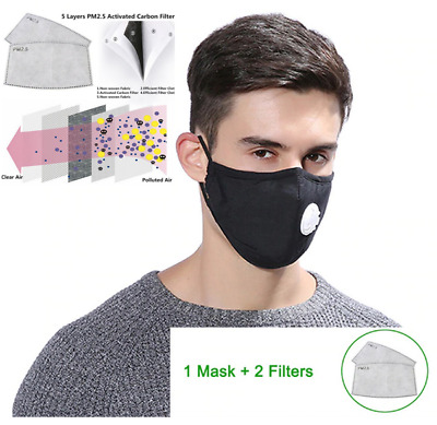 Masque Anti Pollution anti dust mask Face Activated carbon Cotton filter PM 2.5