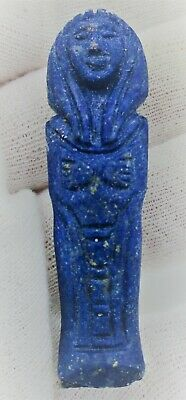 Circa 664 - 332 Bce Ancient Egyptian Lapis Lazuli Ushabti With Heiroglyphics Rar