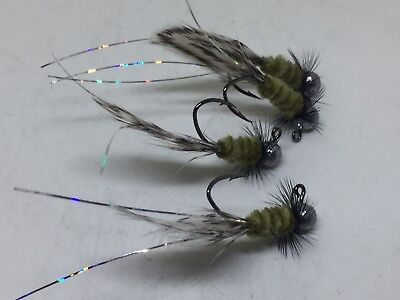 great for Crappie 4 Custom Hand Tied 1//64 jigs #406-164 Bream and Trout