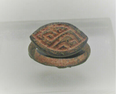 Detector Finds Ancient Roman Bronze Signet Ring With Lozenge Type Bezel