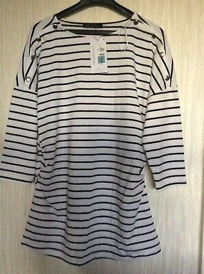 Marks And Spencer Size 14 Maternity Top Striped New With Tags