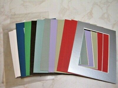 10 Mounts 8 x 6, Plus Backs & New Clear Bags  Assorted colours see pics – Lot 13