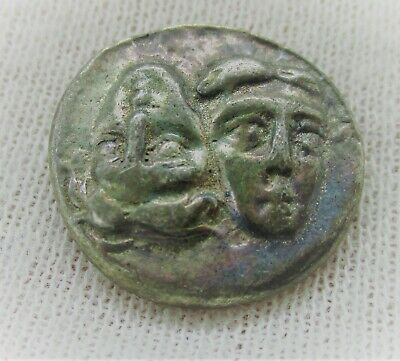 Ancient Greek Ar Silver Drachm Coin Istros Twins And Eagle