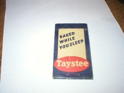 Vintage New Old Stock Taystee Bread Bakery Employee//Worker Advertising Patch