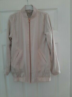 Next Girls Pretty Bomber Jacket.....age 11.....Pastel Pink Shiny Material....