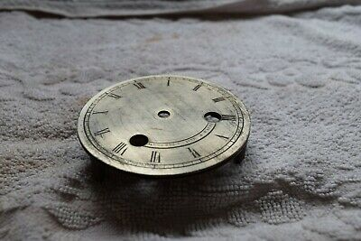 antique French clock silver dial
