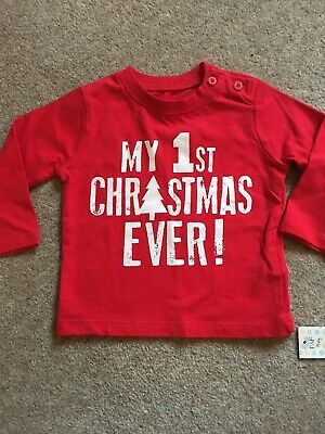 First Christmas Red Baby Top Brand New With Tags