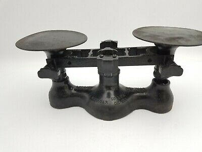 Vintage Detecto Scale NY USA 10lb Max Weight No 4 Cast Iron Base Jacobs Bros Inc