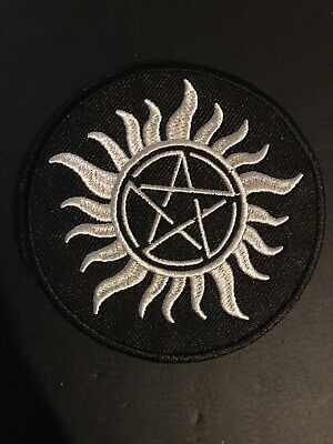 "Supernatural Black Anti-possession 3 1/2"" Embroidered Iron On/Sewn On Patch"