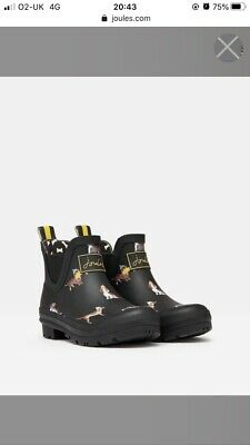 Joules Wellibobs / Wellies / Boots Size Uk 4 New Without Box
